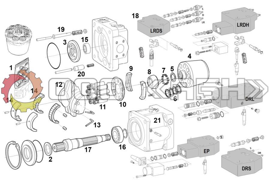 Запчасти для гидронасоса Bosch Rexroth A11VLO145