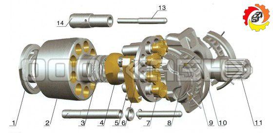 Запчасти для гидронасоса Bosch Rexroth A11VLO260