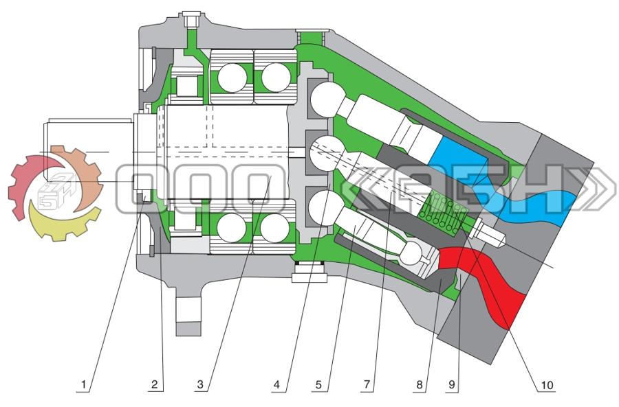 Запчасти для гидромотора Bosch Rexroth A2FM250