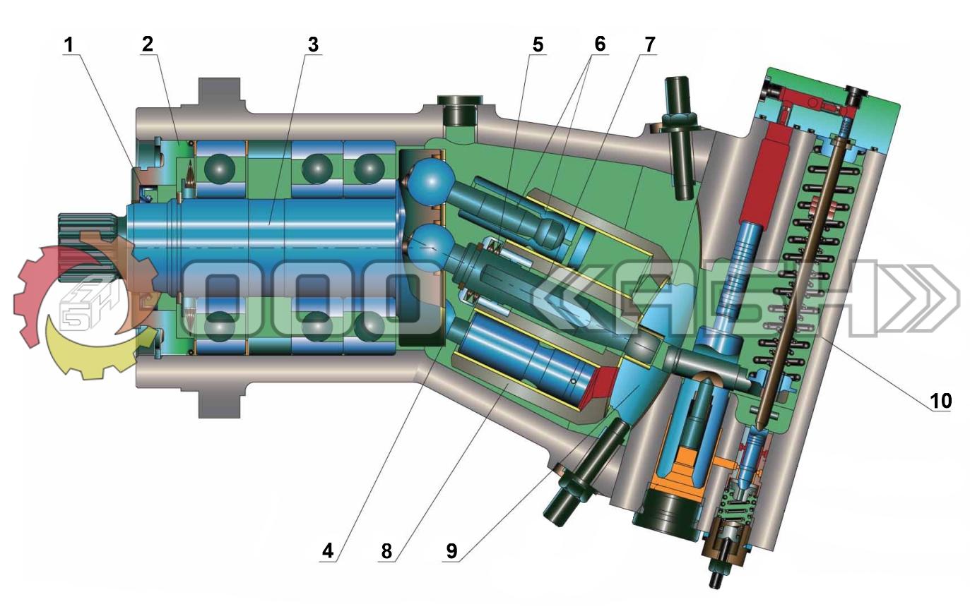 Запчасти для гидронасоса Bosch Rexroth A7V80