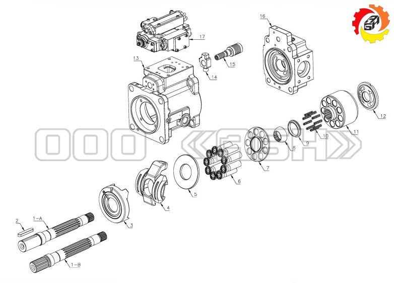 Запчасти для гидромотора Kawasaki K3X63