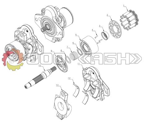 Запчасти для гидронасоса Kayaba PSVD-12