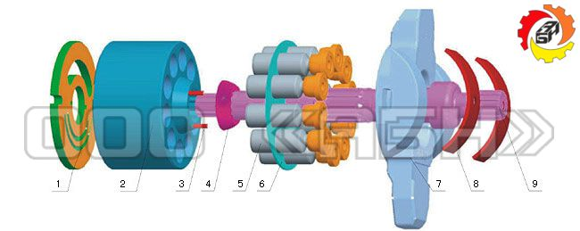 Запчасти для гидронасоса Nachi PVD-3B-66