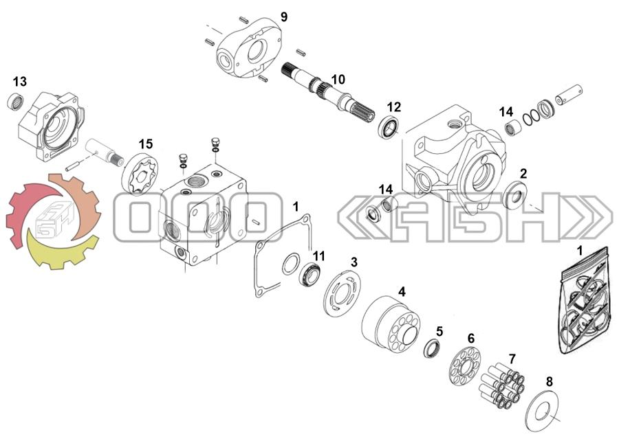 Запчасти для гидронасоса Sauer Danfoss OPV1/038