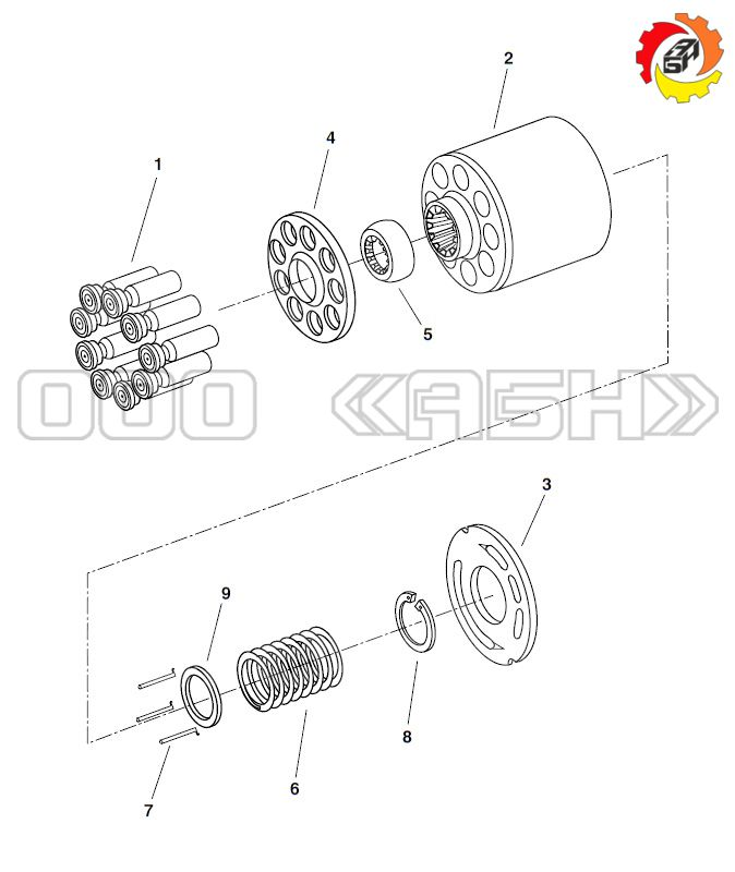 Запчасти для гидронасоса Bosch Rexroth A10VSO45