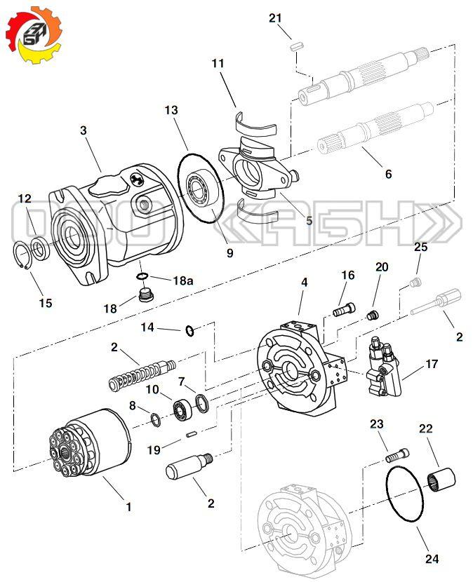 Запчасти для гидромотора Bosch Rexroth A10FE45