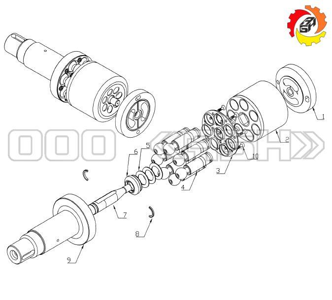 Запчасти для гидронасоса Bosch Rexroth A2FO16