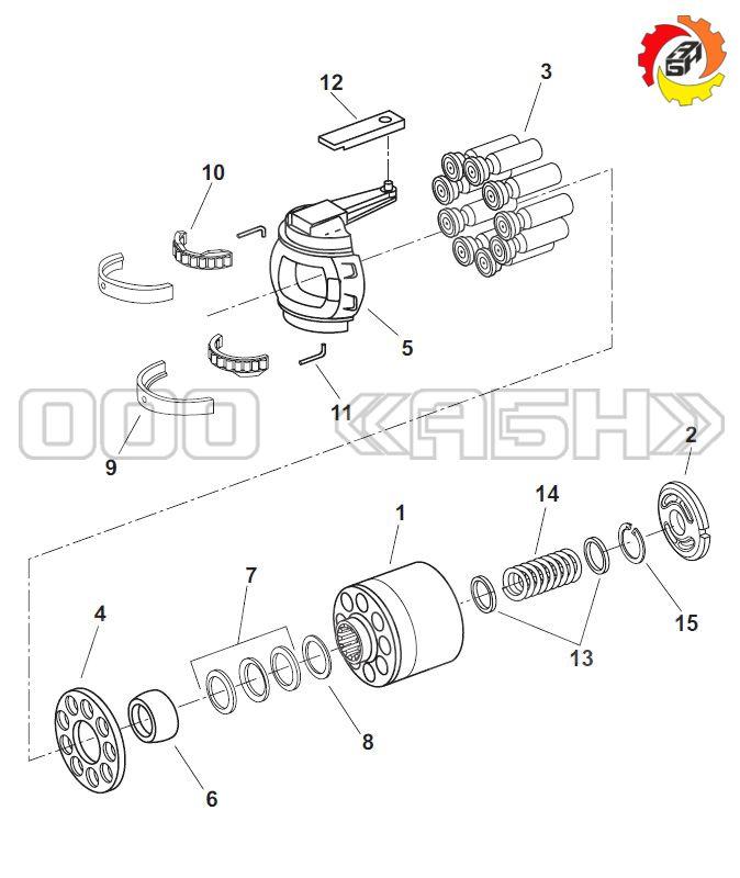 Запчасти для гидронасоса Bosch Rexroth R902137147