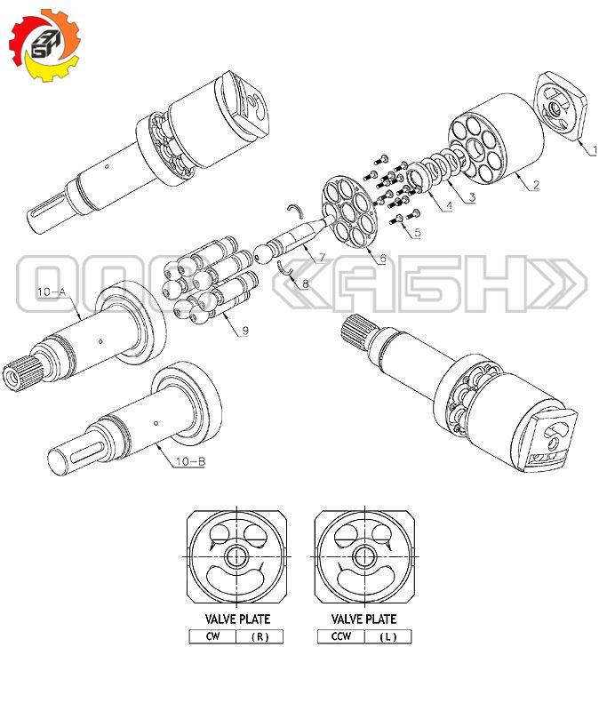 Запчасти для гидронасоса Bosch Rexroth A7V200