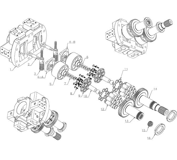 Запчасти для гидронасоса Bosch Rexroth A8V107
