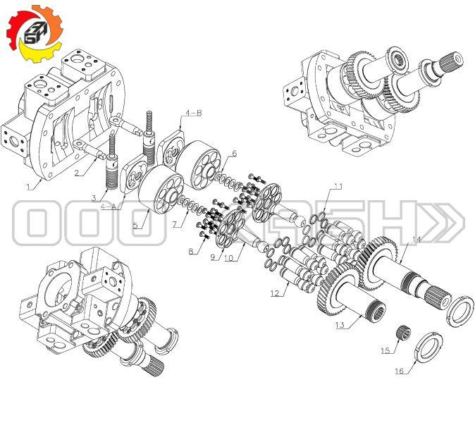 Запчасти для гидронасоса Bosch Rexroth A8V172