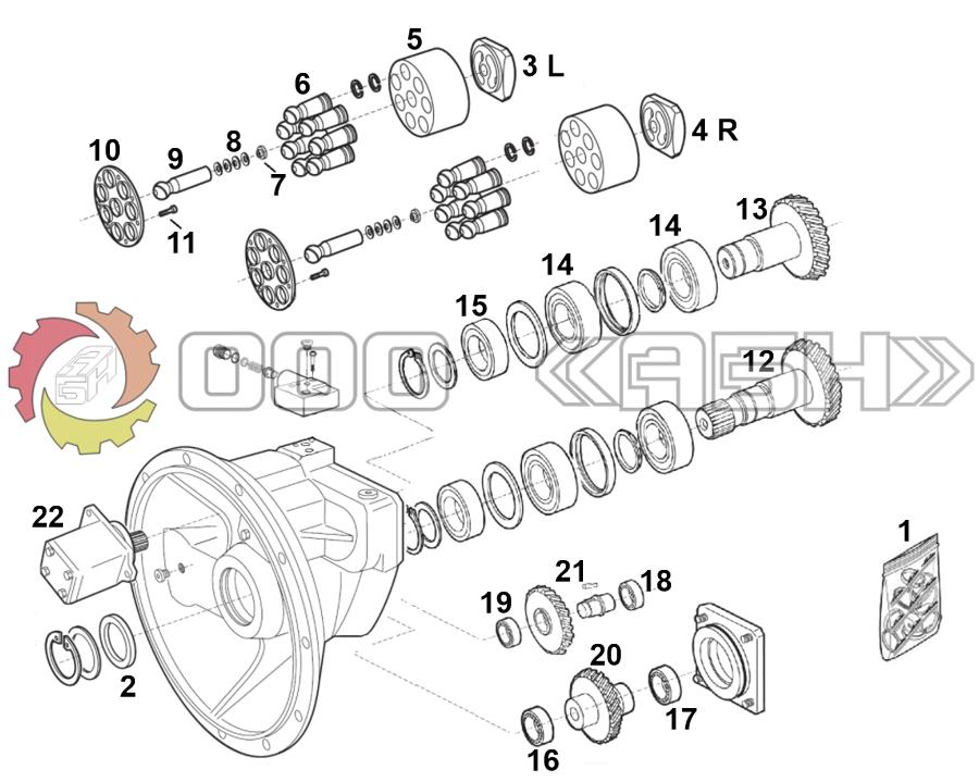 Запчасти для гидронасоса Bosch Rexroth A8VO107 (63 серия)