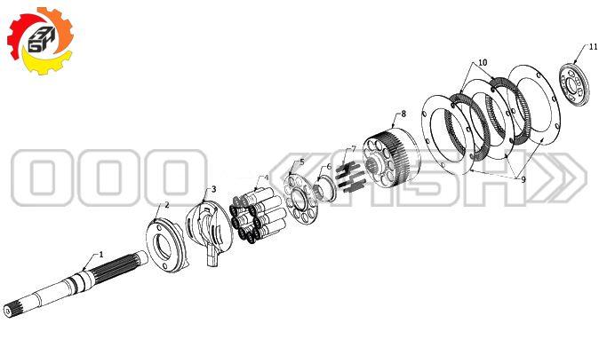 Запчасти для гидромотора Kawasaki DNB08