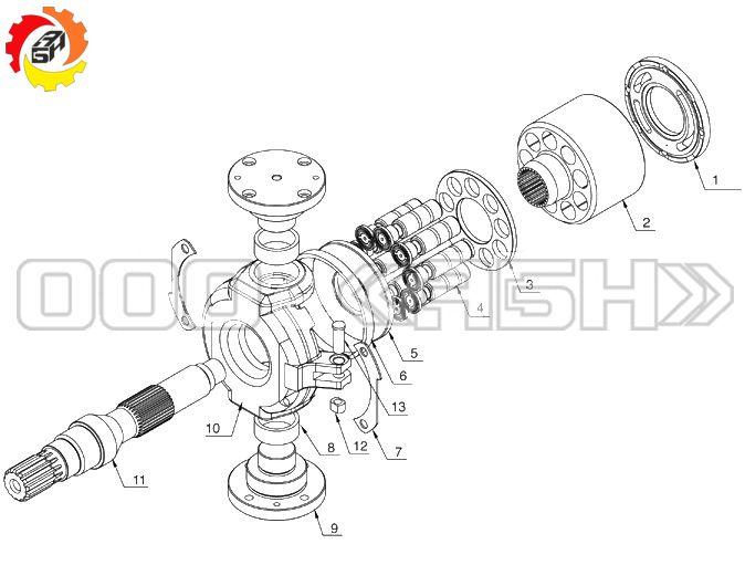 Запчасти для гидронасоса Kawasaki KVC925