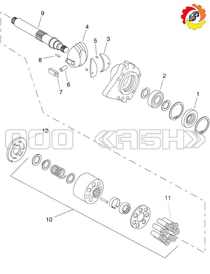 Запчасти для гидронасоса Sauer Danfoss M025