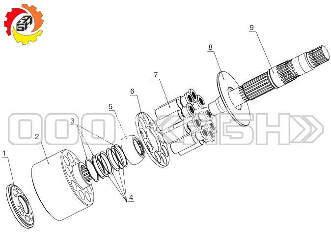 Запчасти для гидромотора Kawasaki MX750