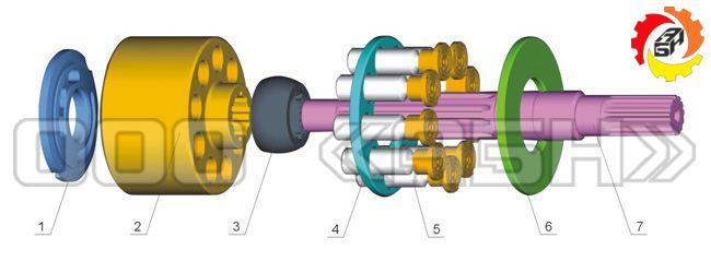 Запчасти для гидронасоса Kawasaki NX15