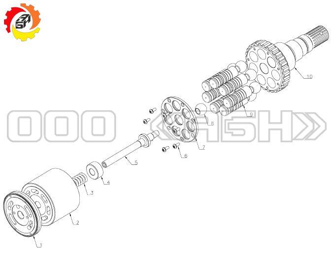 Запчасти для гидромотора Komatsu KMF90