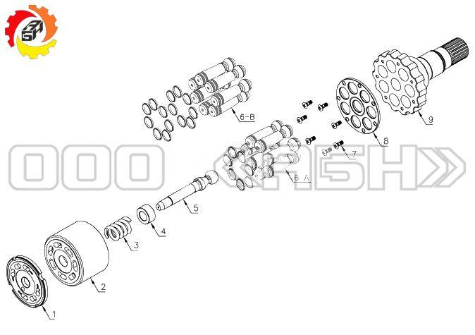 Запчасти для гидромотора Komatsu PC220-8
