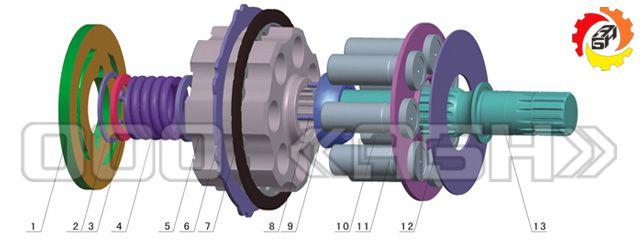 Запчасти для гидромотора Komatsu PC45R-8