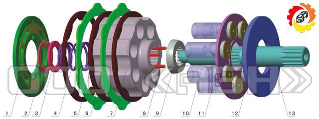 Запчасти для гидромотора Komatsu PC60-7