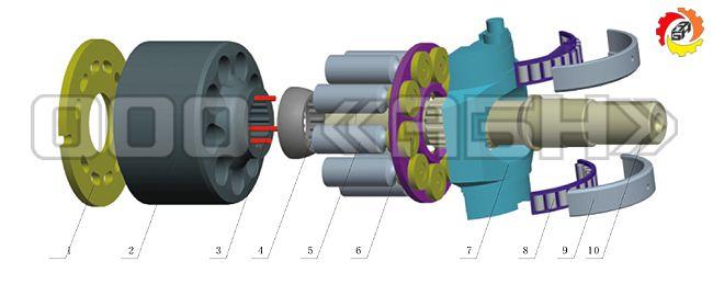 Запчасти для гидронасоса Bosch Rexroth A10VG63