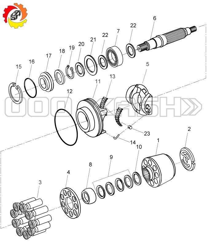 Запчасти для гидронасоса Bosch Rexroth A4V180