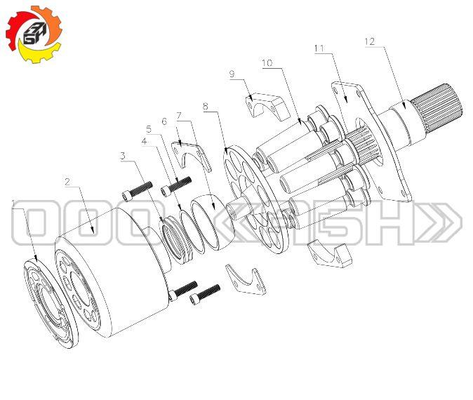 Запчасти для гидронасоса Bosch Rexroth A4VO1000