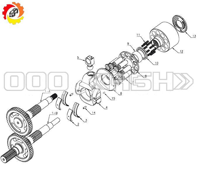 Запчасти для гидронасоса CAT SBS140 (E320C/D , E315C/D , E320C/D , E322C/D , E325C/D)