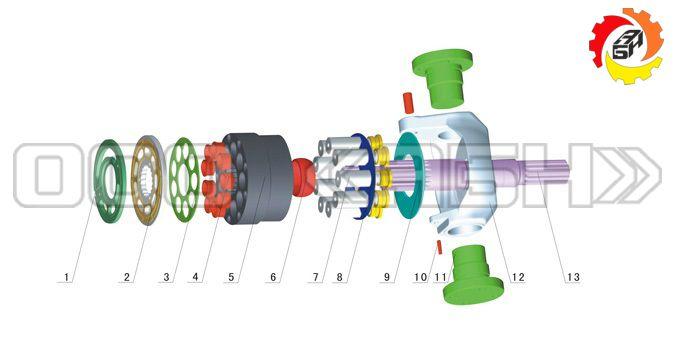 Запчасти для гидронасоса Sauer Danfoss SPV10/10