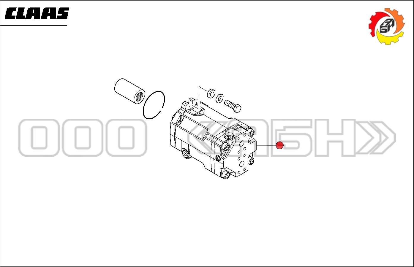 Гидромотор Claas / LINDE (0006691190 / 6691190 / 669119.0)