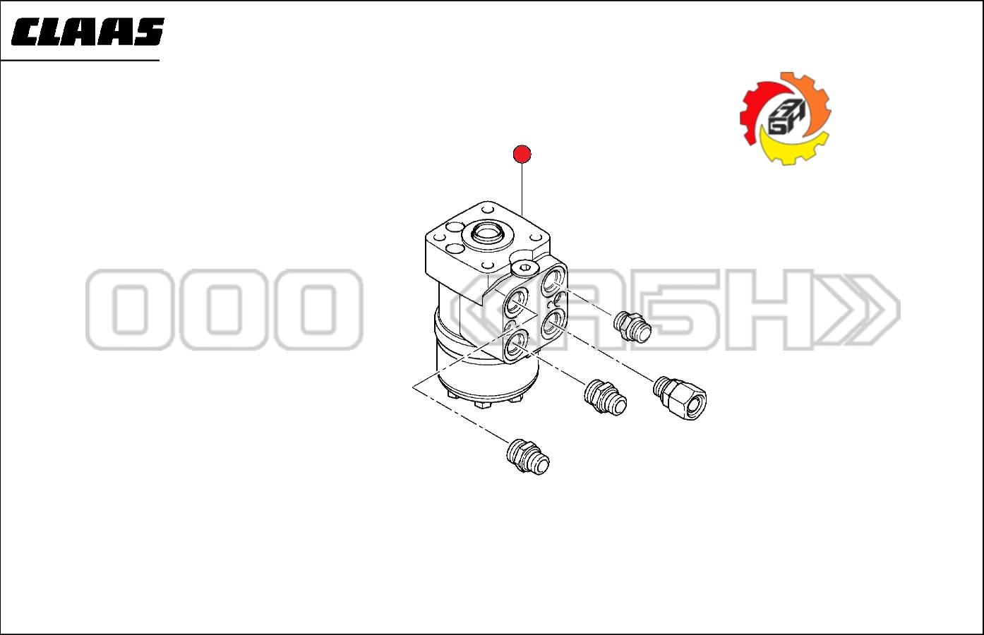 Узел управления (насос дозатор) Claas 0007477900 (7477900, 747790.0) (0007477900 / 7477900 / 747790.0)