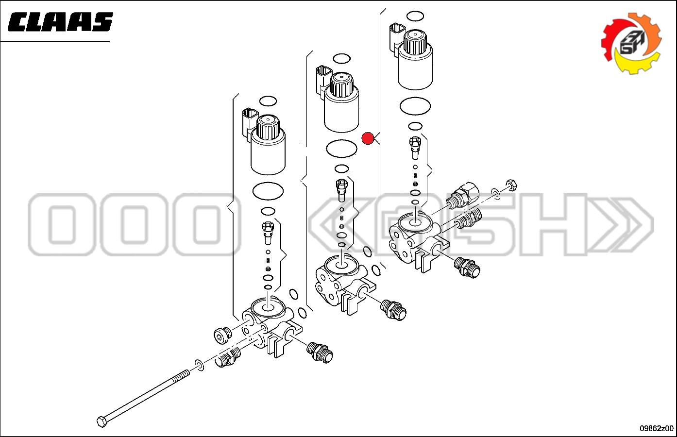 Блок гидравлический Claas (0000554770 / 0554770 / 055477.0)