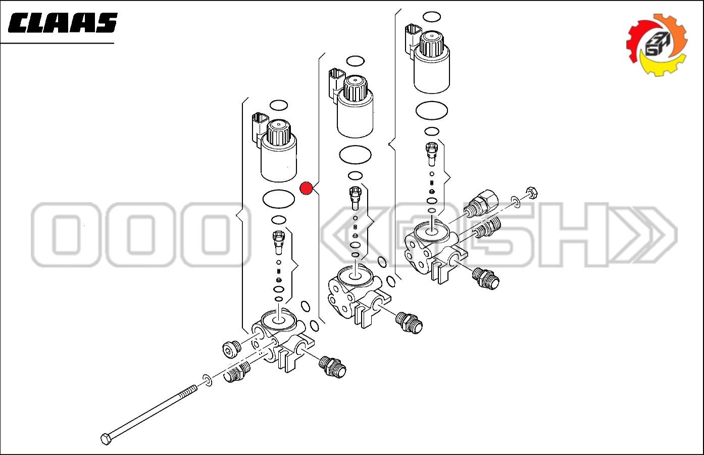 Блок клапанов Claas (0000395790 / 0395790 / 039579.0)