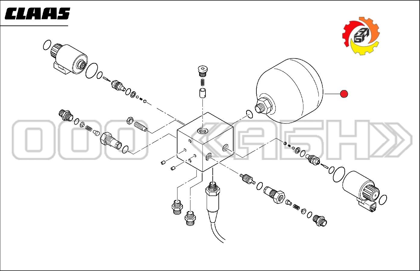 Гидроаккумулятор Claas (0000775911 / 0775911 / 077591.1)