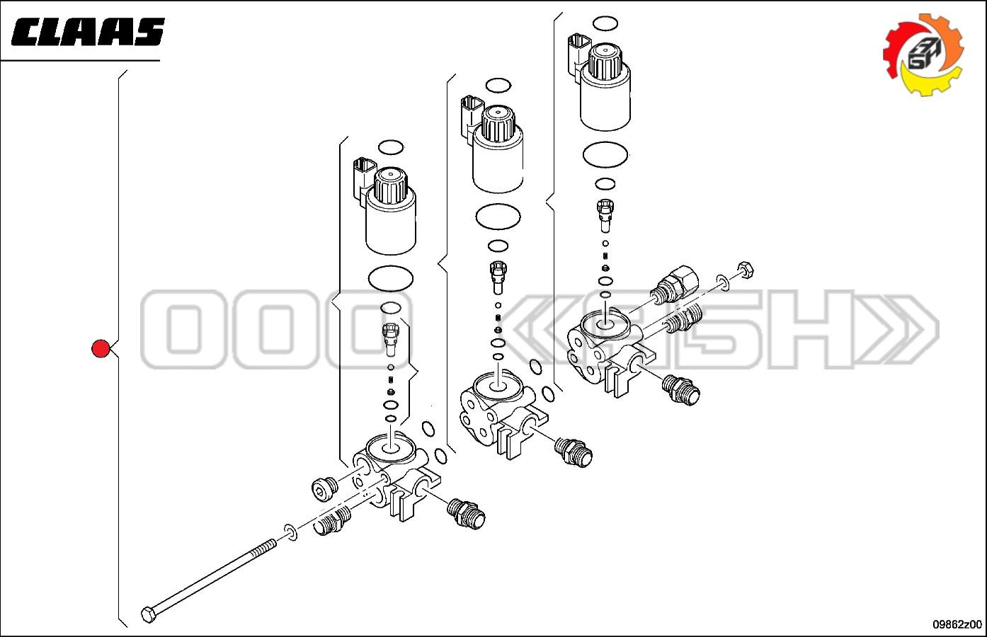 Клапан Claas (0000553060 / 0553060 / 055306.0)