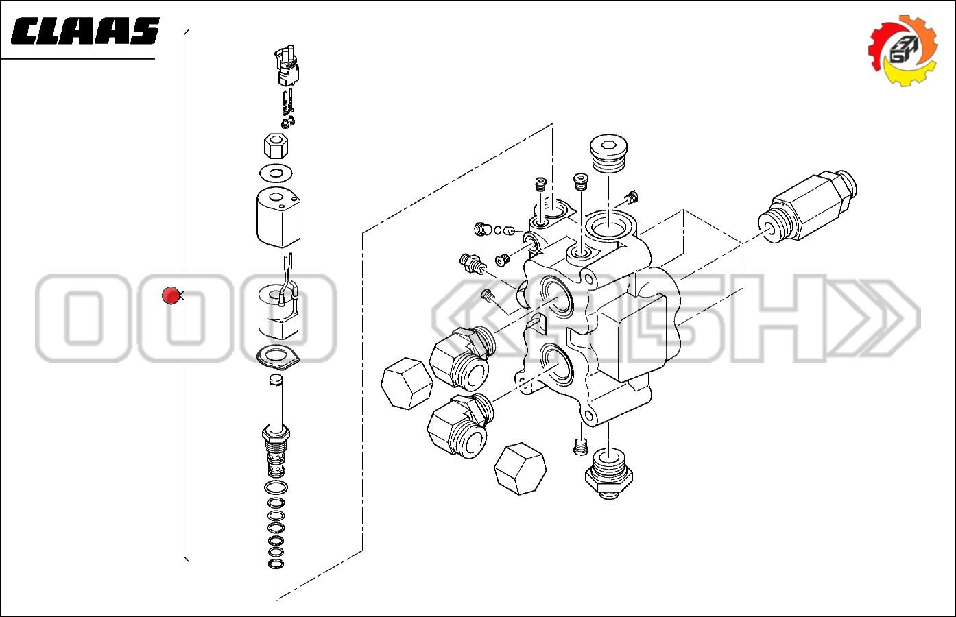 Клапан Claas  (0006602840 / 0007308950 / 6602840 / 660284.0 / 7308950 / 730895.0)