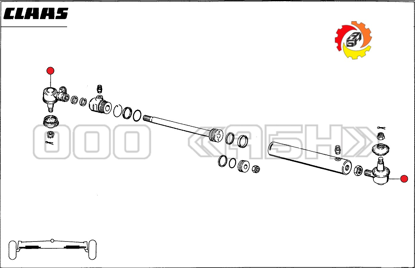 Шарнир шаровой Claas (0006689980 / 0007708910 / 6689980 / 7708910 / 668998.0 / 770891.0)
