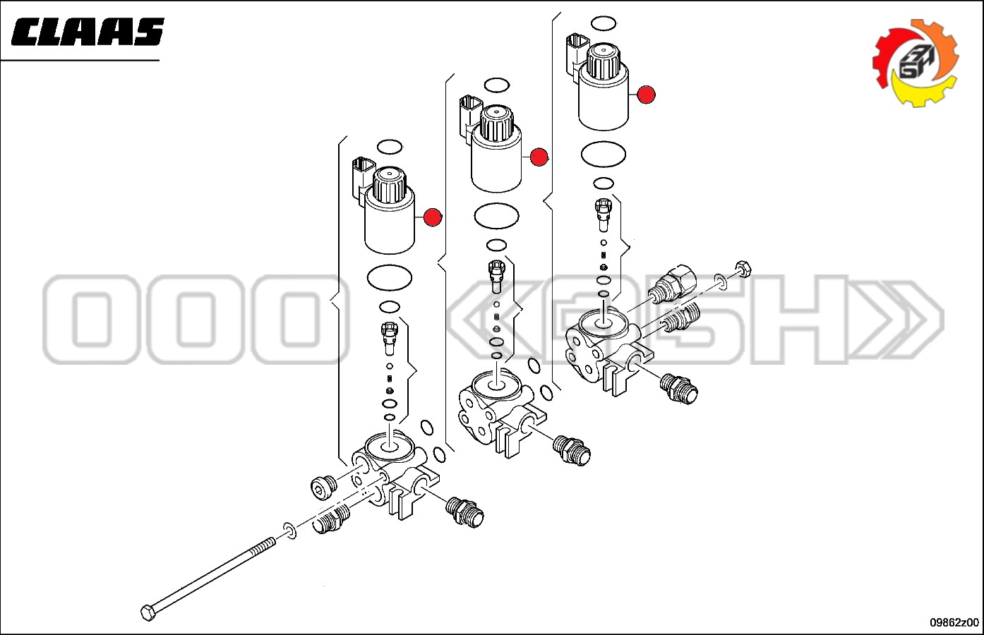 Соленоид Claas (0000404450 / 0000397420 / 0404450 / 0397420)