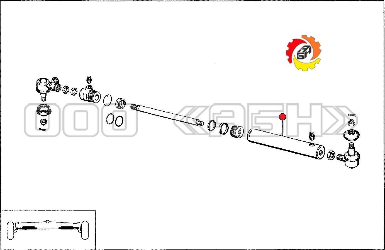 Труба цилиндра Claas (0000419290 / 0000863800 / 0419290 / 0863800)