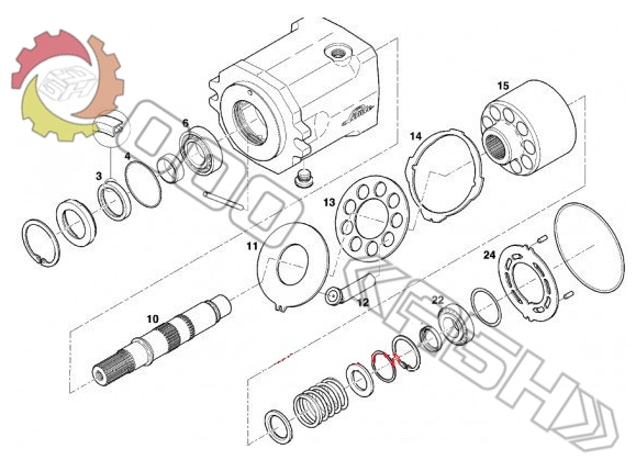 Запчасти для гидромотора Linde HMF28