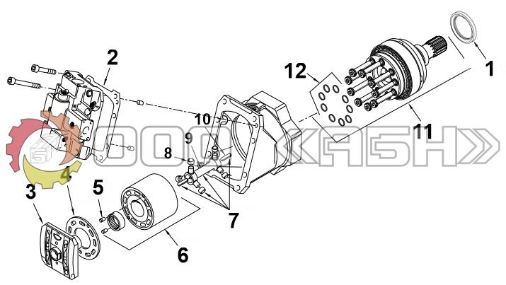 Запчасти для гидромотора Sauer Danfoss 51V160