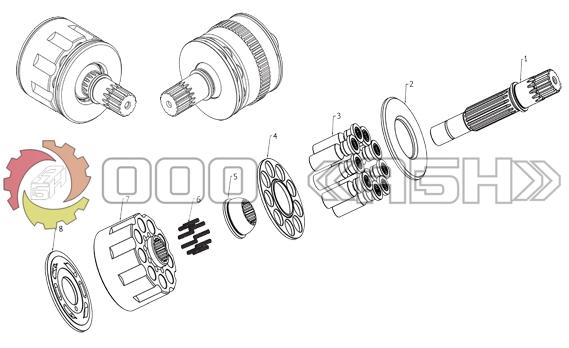 Запчасти для гидромотора HYUNDAI JMF64