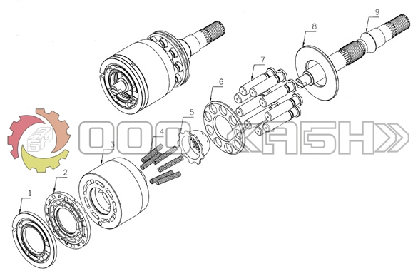 Запчасти для гидромотора Sauer Danfoss MF22
