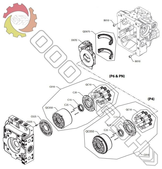 Запчасти для гидромотора Sauer Danfoss H1P115