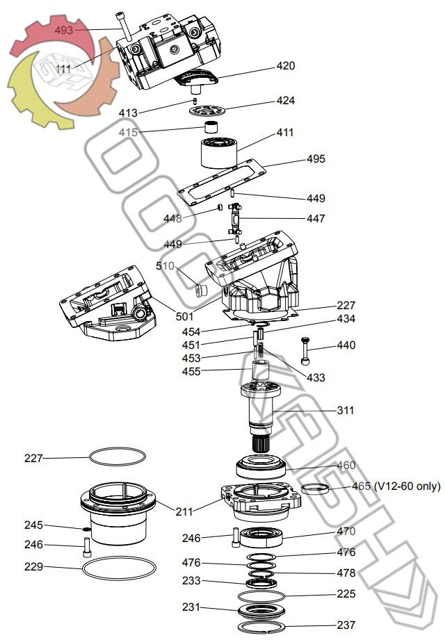 Запчасти для гидромотора Parker V12-060