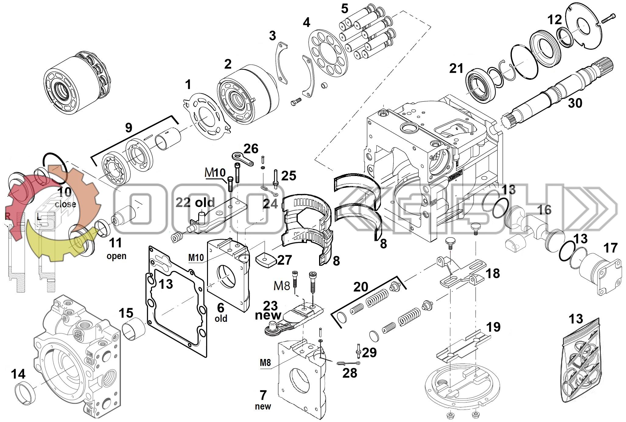 Запчасти для гидронасоса Sauer Danfoss 90R075