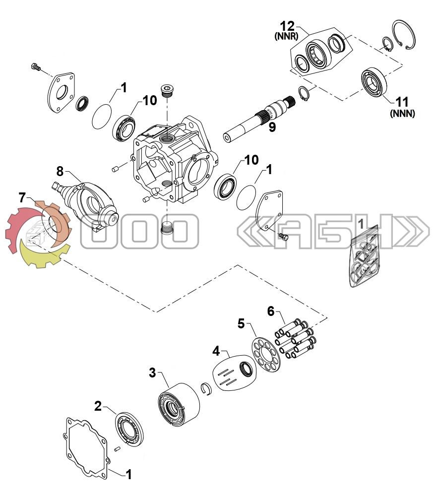 Запчасти для гидромотора Sauer Danfoss MMV044