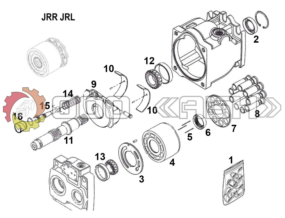 Запчасти для гидронасоса Sauer Danfoss JRR045