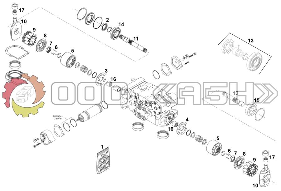 Запчасти для гидронасоса Sauer Danfoss 42R41